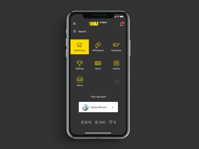 WU Stimul service bank corporate app product web grid ux ui clean design