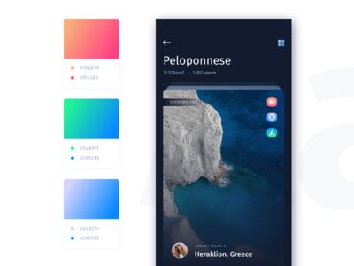 Studio Jam - Travel App concept - Gradients