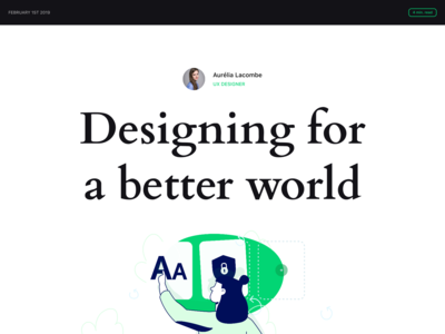 "🖋""Designing for a better world"""