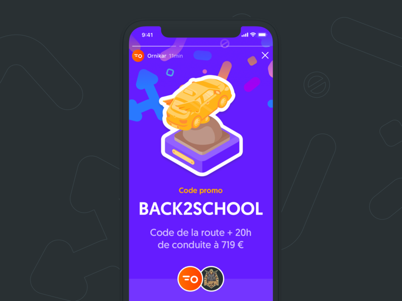Back to school deals ui trophy isometric driving license driving school story socialmedia illustration