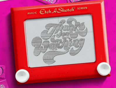 Thanks for Watching behance pencil lettering artist typeeverything typogaphy ending digital retro old handmade type letter lettering