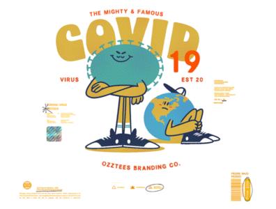 Flyer Design whatsapp sticker instagram teesdesign china illustration drawing print hype tees branding sick pandemic world character coronavirus virus covid-19 covid19 covid