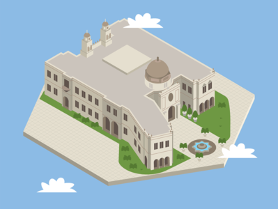 University of San Diego drawing vector illustracion 3dmaps mapa map buildings information design infographic 3d perspestive3d perspective