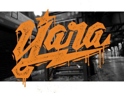Yara Baseball handmade vector illustration logobrand logotype stencil warriors graffiti star font lettering art brand lettering logo baseball logo baseball cap baseball