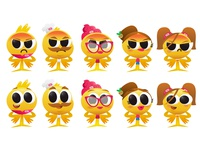 Emojis Characters personaje men woman happy angry gradient vector illustration poland brand design art designer design characters emojis emoji icondesign stickers milasupermarket
