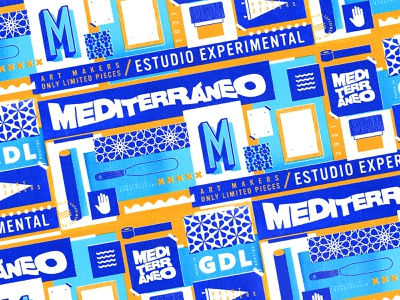 Mediterráneo Branding Concept logotypedesign vector guadalajara sea artist creative concept designer screenprint art prints logo branding design brandidentity branding agency branding and identity branding concept