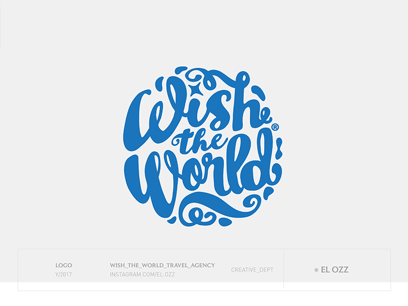 Wish the World vector wish lettering letter artist brand logofolio design logotype branding logo
