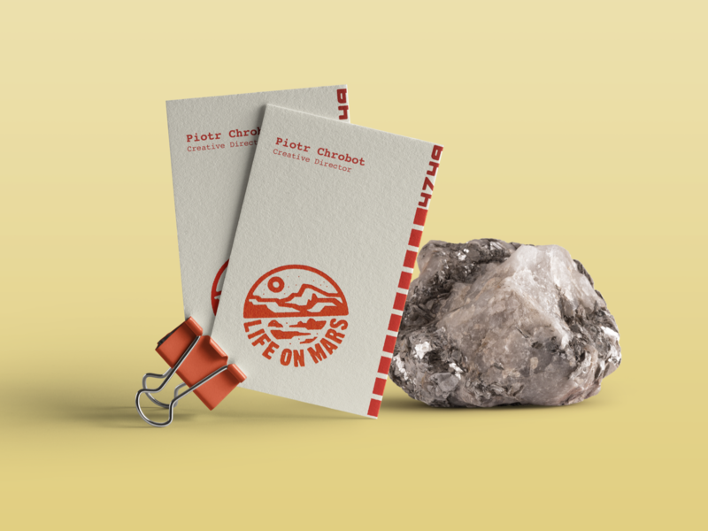 Life on Mars Branding Proposal vector logotype design businesscard badge logo space mars branding brand