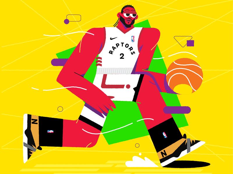 Nba Finals Raptors new character vector illustration nike raptors basketball baller shot dribbble nba