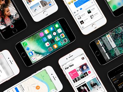 iOS 10 GUI 2.0 Big Update photoshop freebie free ui kit sketch iphone ios 10 ios gui