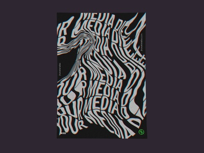 Media Nowadays design vector photoshop dark mode lettering media poster art poster