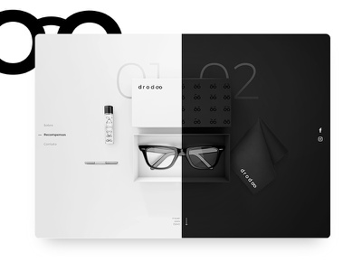 Drodoo Fundraising Kit graphic design eyeglasses kit black white bold