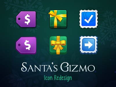 Santa's Gizmo • Icon Redesign santas gizmo santa app icon interface christmas shopping sale store gift