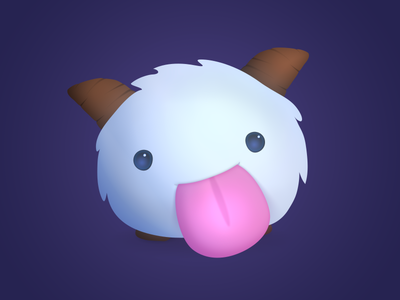 Poro! lol tongue creature fluffy king poro league of legends