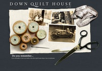 Down Quilt House, Holding Page local fabric printing brand est 1932.