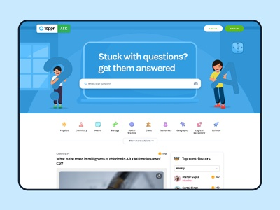 Toppr Ask - Landing Page search edtech education quora answer question question and answer