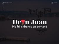 Dron Juan - No frills drones on demand - Logo Concept