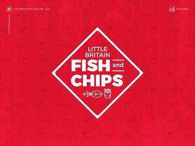 Little Britain Fish and Chips - Logo design chips fish graphic design razvandesign branding freelancer design logo designer
