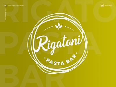 Rigatoni Pasta Bar - Logo Design italy rigatoni razvandesign pastabar pasta branding graphic design freelancer designiasi logo designer