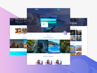 Politrip Travel Website Design - Shot 1