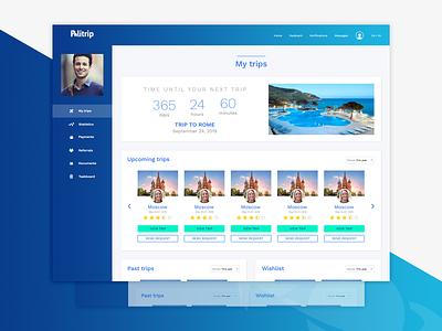 Politrip Travel - Admin Dashboard - Shot 3 userexperiencedesign userexperiance ux dashboard webdesigner userinterface ui travelwebsite travel website websitedesign freelancer designiasi designer