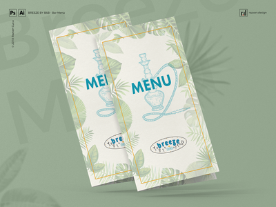 Breeze by B&B - BAR Menu - Shot 1 breeze graphicdesign vector illustration cocktail bar menudesign menu razvandesign designiasi freelancer designer