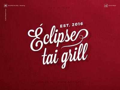Éclipse tai grill - Branding - Shot 1 branding thaigrill grill thai razvandesign design logo designiasi designer