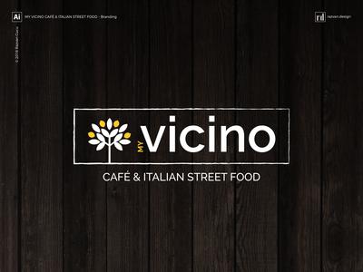 My Vicino - Café & Italian street food - Branding - Shot 1