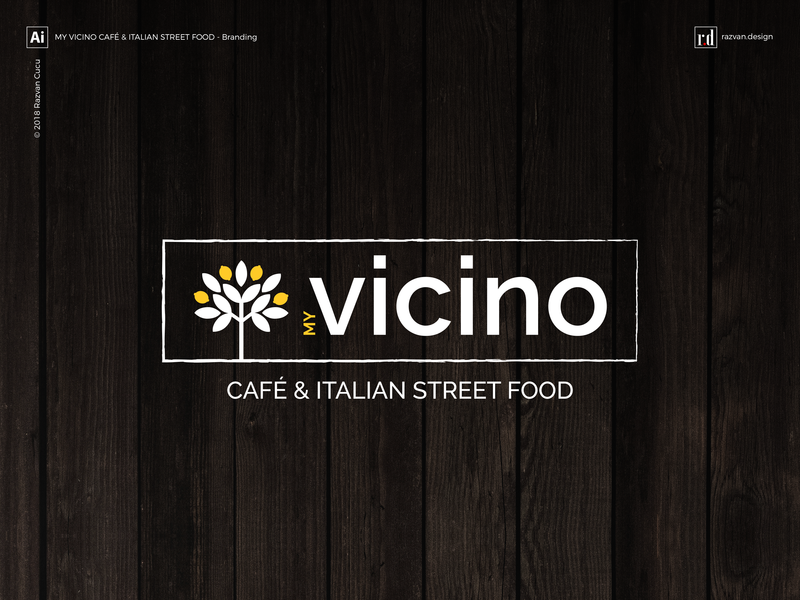 My Vicino - Café & Italian street food - Branding - Shot 1 branding agency brand agency cucina italian restaurant street food cafe bruschetta restaurant italian food logo branding