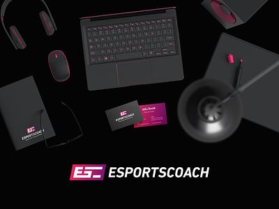 Esportscoach - Branding - Shot 5 players coaching coach player game play logo branding esports gaming
