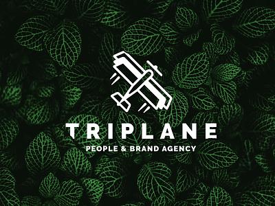 Triplane: People & Brand Agency - Logo plane brand people agency branding logo