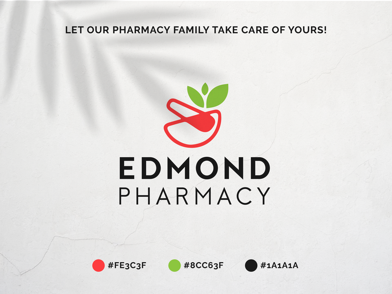 Edmond Pharmacy - Logo design logodesigner logodesign pharmaceutical pharmacist illustration designer freelancer branding logo pharmacy