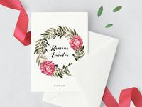 Ramona & Eusebiu Wedding Stationary wedding stationary invite rsvp invitation. printdesign bride watercolor
