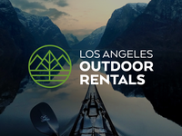 Logo Design for LA Outdoor Rentals eco thick lines minimalist hiking designiasi nature travel logo kayak thicklines adventure outdoor logo rental los angeles camping