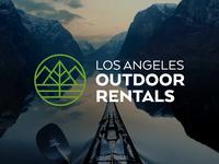 Logo Design for LA Outdoor Rentals eco thick lines minimalist hiking designiasi nature travel logo kayak thicklines adventure outdoor logo rental los angeles camping