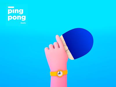 Sports hand 🏓🏀 motion graphics graphic design character design cute design cinema4d 3d animation 3d illustration character motion animation