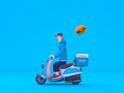 Delivery 🛵 3d animation cute character design cinema 4d 3d motion character design animation