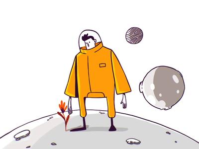 Cosmic Flower frame by frame animation frame by frame character design graphic design motion character design illustration animation