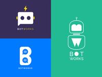 BotWorks logo concept | Chatbot platform
