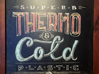 Thermo & Cold chalk board lettering chalk