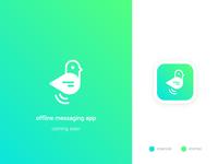 Logo for offline messaging app