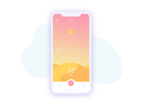 Weather App Concept - animation