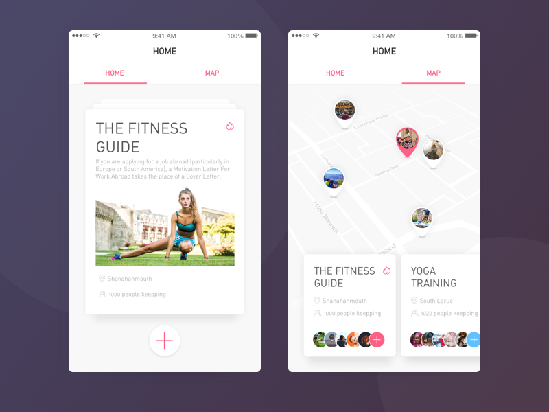 Nearby fitness enthusiasts