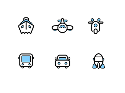 Icon For Transport autobike airport bus car transport icon