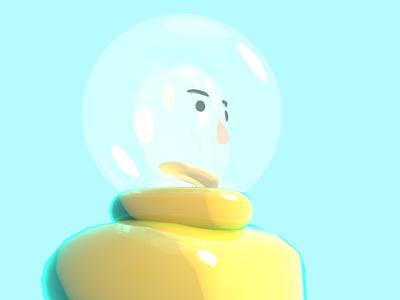 Super Shiny Moon Man illustration still modeling c4d 3d