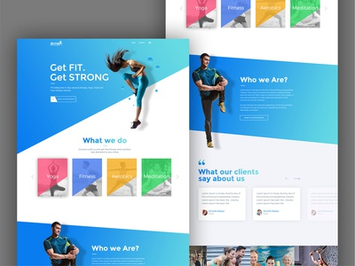 Modern Landing Page for Extreme Athlete Company