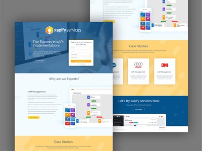 Landing page design for Product