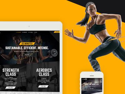 Luxury Fitness Club Web Design