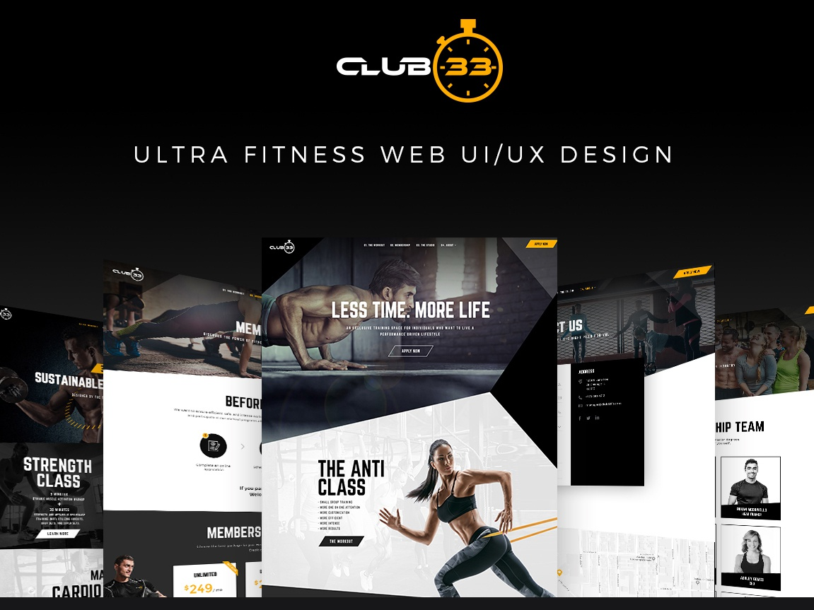 Web Design for Fitness GYM landing page branding user experience web design luxury gym fitness