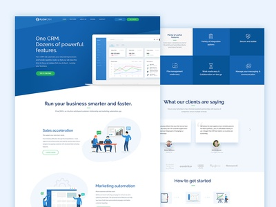 Web Design for CRM Product